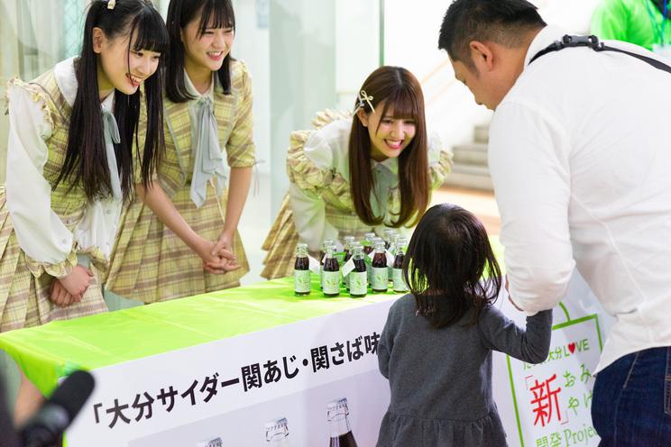 高松瞳、佐竹のん乃、齋藤樹愛羅|JR大分駅構内(2019年3月31日)